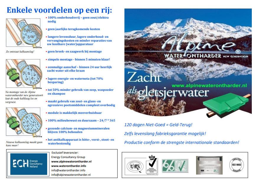 Alpine waterontharder