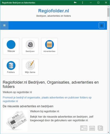 Regiofolder PWA progressive webapp