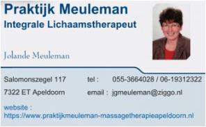 Praktijk Meuleman Integrale Lichaams- en Massagetherapeut
